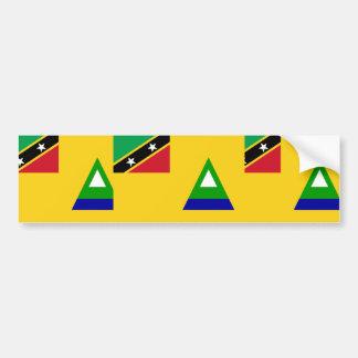 Nevis, Russia Car Bumper Sticker