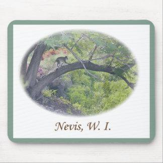 Nevis Vervet Monkey Scene Mouse Pad