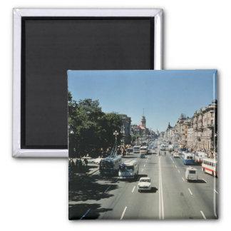 Nevsky Prospekt 2 Inch Square Magnet
