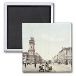 Nevsky Prospekt, St. Petersburg 2 Inch Square Magnet