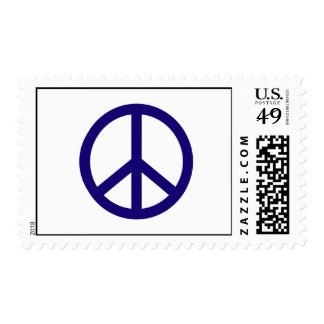Nevy Blue Peace Sign Stamp
