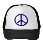 Nevy Blue Peace Sign Trucker Hat