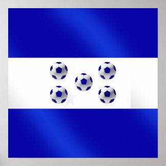 New 2010 soccer flag of Honduras gifts Print