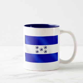 New 2010 soccer flag of Honduras gifts Two-Tone Coffee Mug