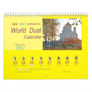 NEW  2010  World Dual Calendar (civil)