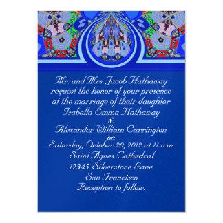 New 2012 Blue Designer Art Wedding Invitation Card