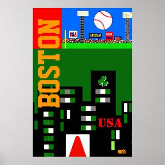New 2013 Boston Art Poster Kids Sports Gift