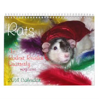 NEW!!!  2014 Rats Calendar from The Rodent Reader