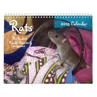 NEW!!! 2015 Rodent Reader Quarterly RATS Calendar