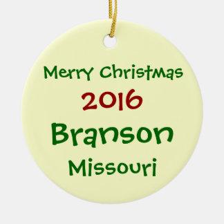NEW 2016 CUSTOMIZABLE BRANSON CHRISTMAS ORNAMENT