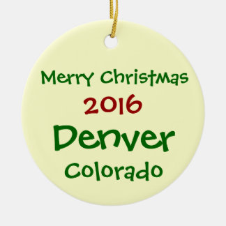 NEW 2016 CUSTOMIZABLE DENVER CHRISTMAS ORNAMENT