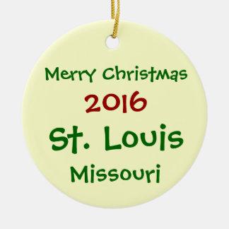 NEW 2016 CUSTOMIZABLE ST. LOUIS CHRISTMAS ORNAMENT
