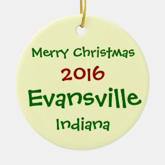 NEW 2016 EVANSVILLE INDIANA CHRISTMAS ORNAMENT
