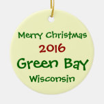NEW 2016 GREEN BAY WISCONSIN CHRISTMAS ORNAMENT