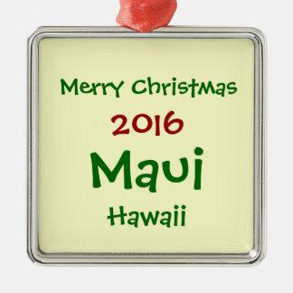 NEW 2016 MAUI HAWAII CHRISTMAS HOLIDAY ORNAMENT