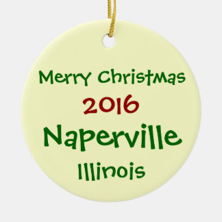 NEW 2016 NAPERVILLE ILLINOIS CHRISTMAS ORNAMENT
