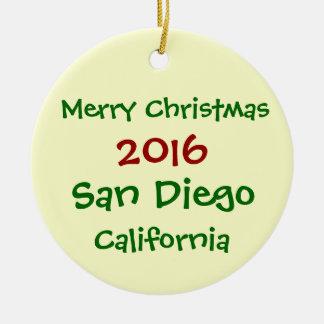NEW 2016 San Diego California CHRISTMAS ORNAMENT