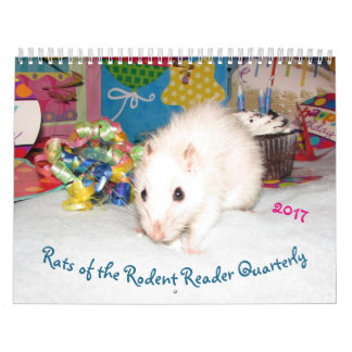 NEW!!! 2017 Rats of the Rodent Reader Calendar