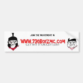 NEW, 730GIRLZ, WWW.730BOYZMC.COM, GET WIT IT OR... CAR BUMPER STICKER