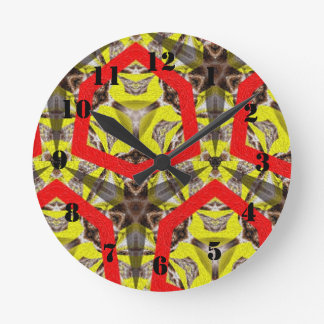 New abstract pattern round clock