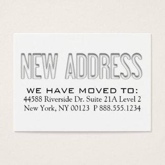 """New Address"" Address Change Notification Label Business Card"