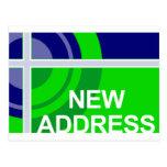 new address announcement : bullseye post card