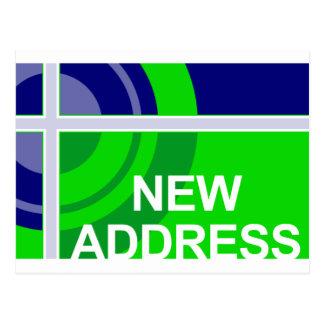 new address announcement : bullseye postcard
