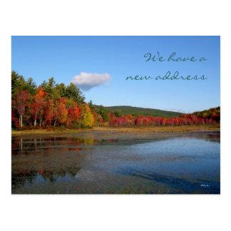 New Address Autumn Shore Postcard