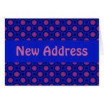 New Address Blue and pink Dots template Greeting Card