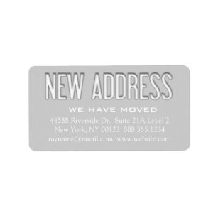 new address change notification label