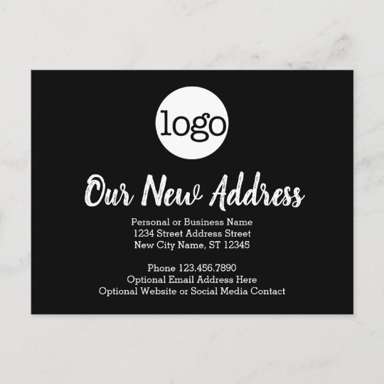Business Logo Announcement Postcard