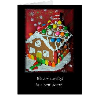 New Address Christmas Card Gingerbread House