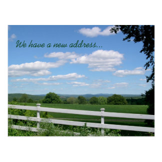 New Address Country Scenery Postcard