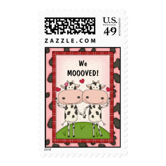 New Address - Cows Stamp