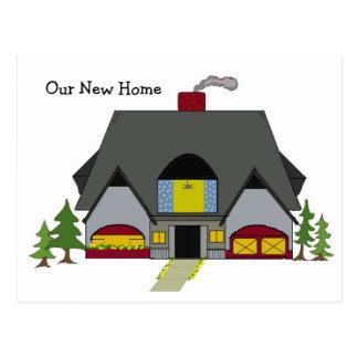 New Address Cozy Home Postcard
