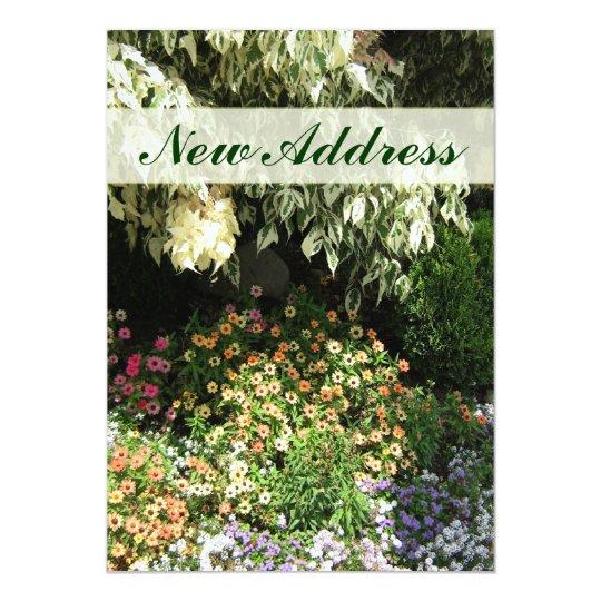 New Address flower garden Card