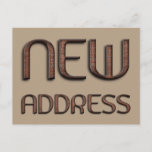 """New Address Funny Stone Bricks Typography Moved Announcement Postcard  (Visit shop for more moving announcements. Type """"moving"""" in the Searchbox)"""