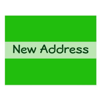 new address green post card