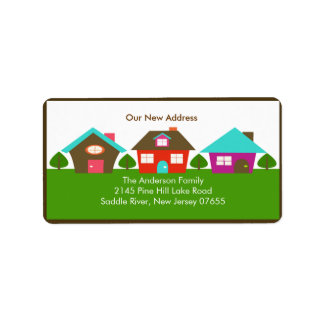 New Address HOUSE Return Address Label