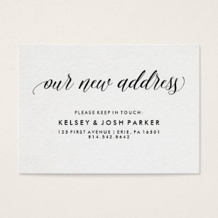 Change of address business cards templates zazzle new address insert modern elegant typography colourmoves