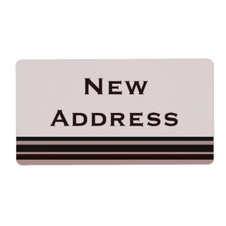 New Address Label