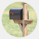 New Address Mailbox Classic Round Sticker
