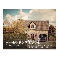 New Address Moving House Home Photo Postcard at Zazzle