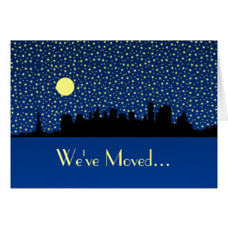 New Address  New York City Skyline Stationery Note Card