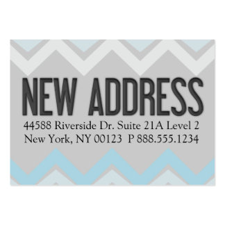 """""""New Address"""" Notification Label Business Card"""