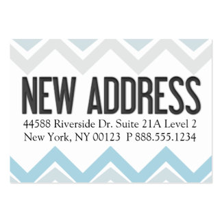 """New Address"" Notification Label Large Business Card"