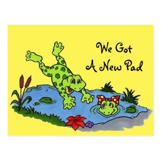 New Address Notification Postcard Frogs Cute Fun