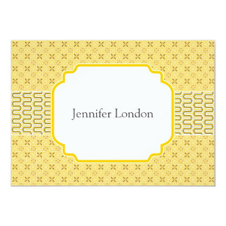 New Address Notifications Golden Egyptian Pattern 5x7 Paper Invitation Card