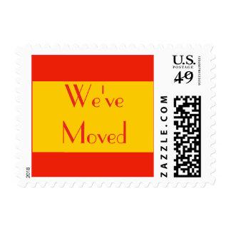 New Address orange color Stamp