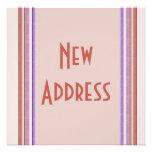 New Address Pastel Invitations
